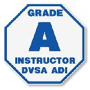 grade A instructor DVSA ADI badge