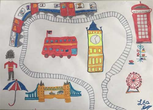 child drawn map of London
