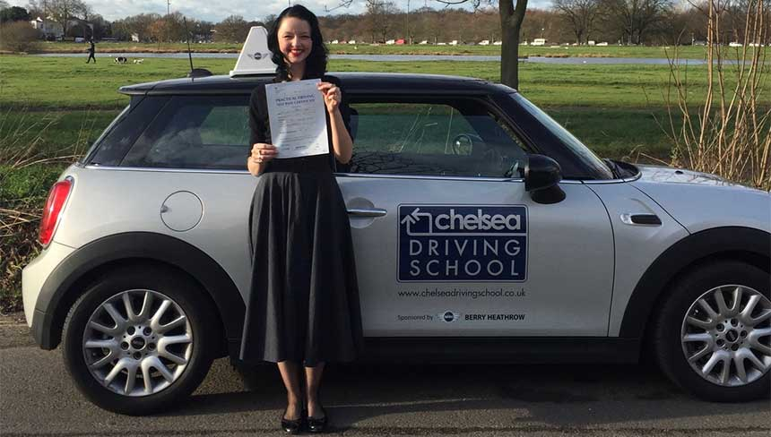 Chelsea Driving School pass student