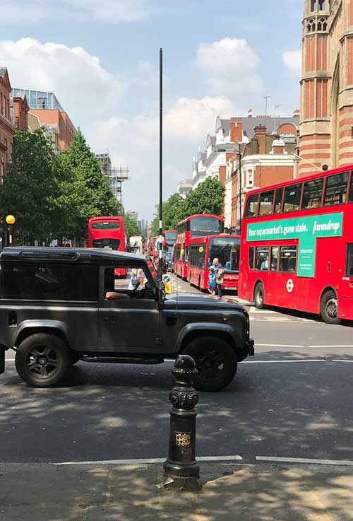 jeep in London streets
